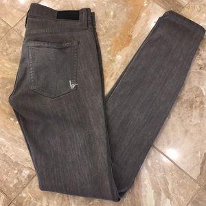 Bebe grey stretch skinny jeans